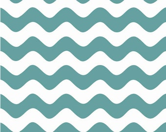 Wave Teal by Riley Blake Designs Fat Quarter  Cut - Wave Fabric