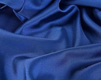 "Navy Satin Fabric - Satin - 1 yard - 60"" wide satin fabric"