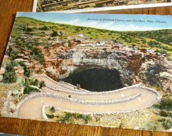 7 Vintage Postcards Unused Fold Out Hand Colored New Mexico Las Cruces Navajo Grand Canyon National Park Carlsbad Cavern Albuquerque Aerial