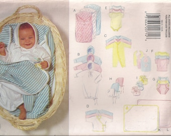 Butterick Sewing Pattern 3812 - Infant's Layette