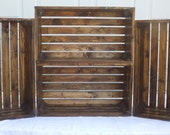 Set Of 4 Large Reclaimed Wooden Storage Crate With Walnut Finish, Pallet Furniture, Toy Storage, Home Decor