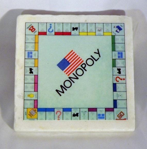 Monopoly Board Coaster Board Game Drinks