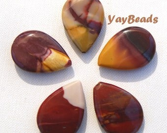 Mookaite Teardrop Focal Bead Large 30x20x6mm Qty 1