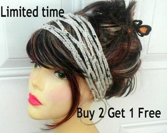 Crochet Headband Boho Headband Hippie Headband  Hair Accessories Headband Crochet Headbands for Women
