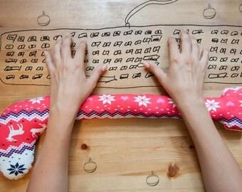 Christmas Sock - Unique Gift - Keyboard Wrist Rest