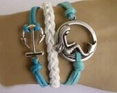 Mermaid bracelet,anchor bracelet,wish bracelet.89.