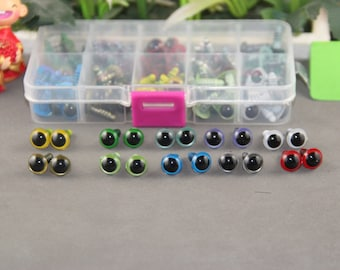 Kit of 10mm Color  Safety Eyes for crochet doll-totally 50 pairs