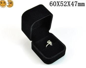 2 Pcs Of Ring Gift Box,Jewelry Gift Box ,60X52X47mm