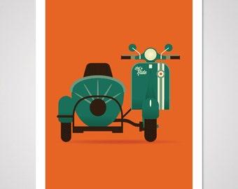 Let's Ride - 18x24 Art Print