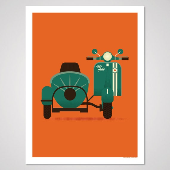 Let 39 s ride 18x24 art print for 18x24 window
