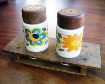 Vintage Guillen Floral Salt Pepper Shakers (Made in Spain)