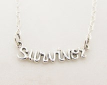 Popular items for cursive words on etsy for Words to wear jewelry