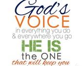 PROVERBS 3:6 The Message Scripture Print - Christian Nursery Art Baby Boy Room Decor // Shower Gift