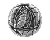 12 Leaves 7/8 inch ( 23 mm ) Metal Buttons Antique Silver Color
