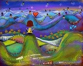 "Title: ""Sea of Possibilities"". FREE SHIPPING Inspirational and colorful Giclee Art Print."