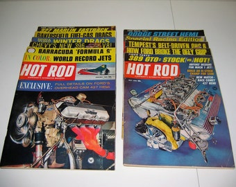 Eleven 1965 Hot Rod Magazines