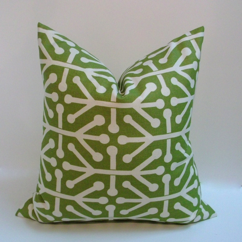 Olive green or navy decorative pillow cover 18 inch abstract