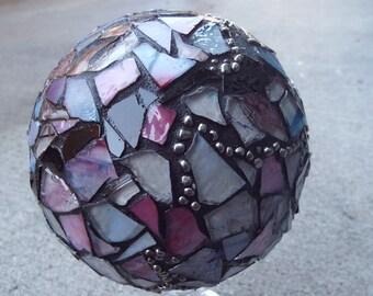 Gazing Ball, Crystal Ball, Home Decor, Romantic Decor, Mosaic Orb