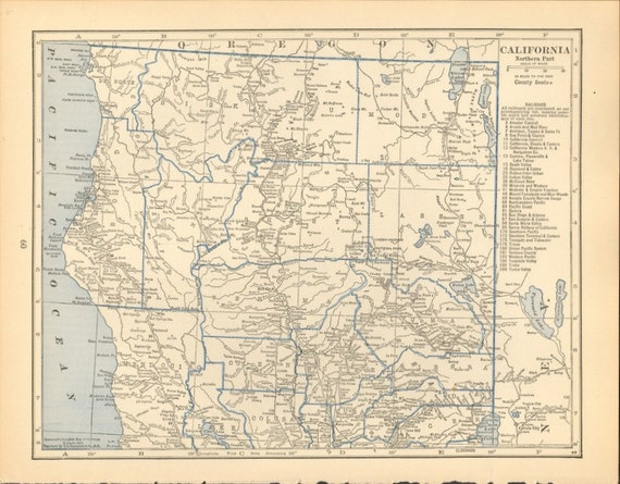 Items Similar To Map Of Arkansas And Northern California