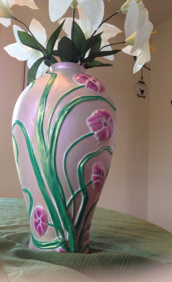 Purple Vase Handmade on etsy