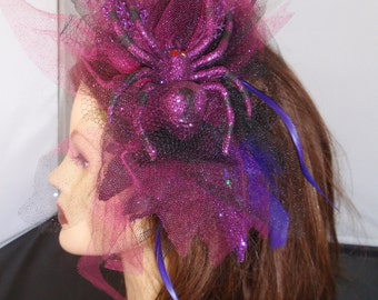 The Poisonous Purple People Eater Spider Fascinator.