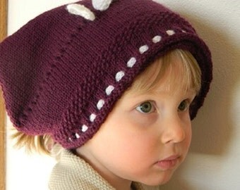 Knitting pattern - Claudia Kerchief, Head Kerchief with a Bow for a  Girl, Hand Knit Hat Pattern, Knit Winter Hat pattern, Knit Girl Hat