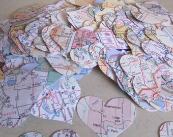 paper hearts wedding confetti party decoration confetti US street road map 500 pieces