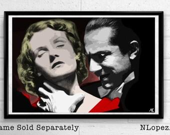 "Dracula Bela Lugosi Classic Vampire Pop Art #2 Poster Print Size 11"" x 17"""