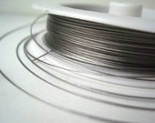 Gray Tiger Tail, .45mm Tigertail Wire, Beading Wire, Jewelry Stringing Wire, 70m Roll