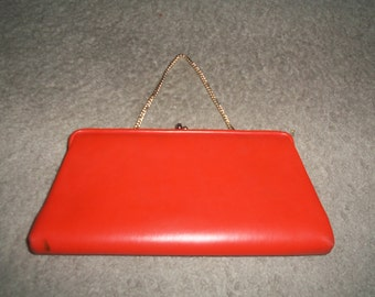 Vintage Orange Bell Purses of calif california clutch evening bag purse