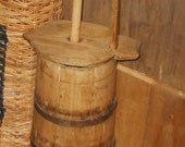 Early 1900s Wooden Butter Churn ~ Very Primitive!