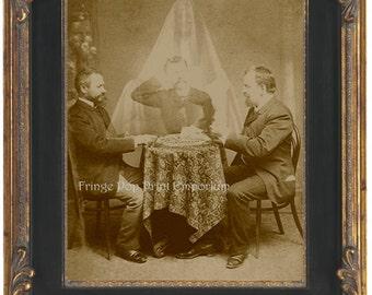 Ouija Board Seance Art Print 8 x 10 - Medium - Occult - Victorian Altered Art - Ghost Spirit - Apparition - Horror Art - Dark Art