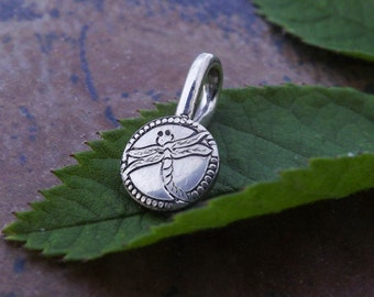 Dragonfly or Butterfly Necklace Hand Engraved Sterling Silver Pendant