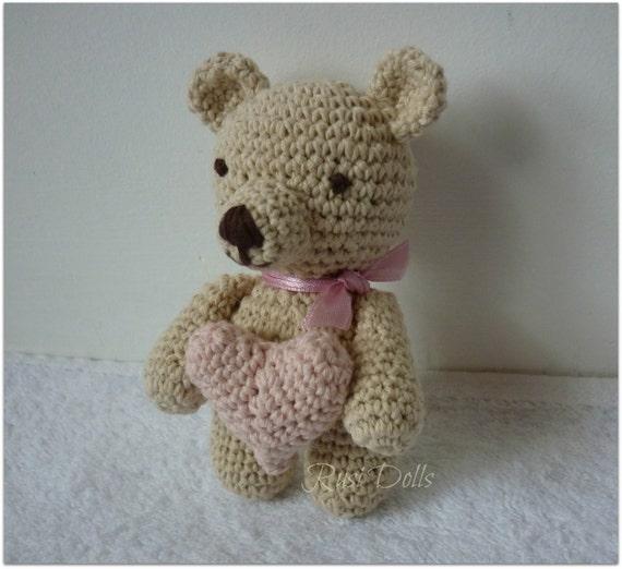 Amigurumi Mini Bear : Mini Bear Crochet Toy Amigurumi Natural Beige Cotton by ...