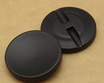 6 pcs 0.98~1.50 inch Black Dimpled Dark Hole Resin Shank Buttons for Coats Jackets