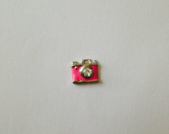 Pink Camera Floating Charm