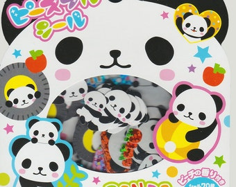 Japanese Kawaii  Die-cut scented Sticker flakes, Panda Parade (STFL02001)