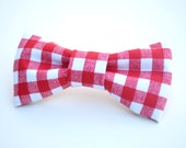 Gingham Bow Tie, Red plaid, Plaid Bow Tie, Valentine bow tie, Newborn prop, country, Valentine's Day, Fourth of July, Independence Day
