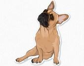 Frank - French Bulldog Decal Sticker - Frenchie Car Sticker, Frenchy Sticker, Dog Vinyl Decal