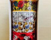 Cute Peanuts Snoopy Washi Masking Tape 4 Rolls Set - Japanese Stationary