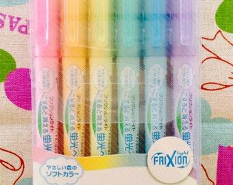 Pilot FriXion Light Soft Color Erasable Highlighter Pen - 6 Color Set