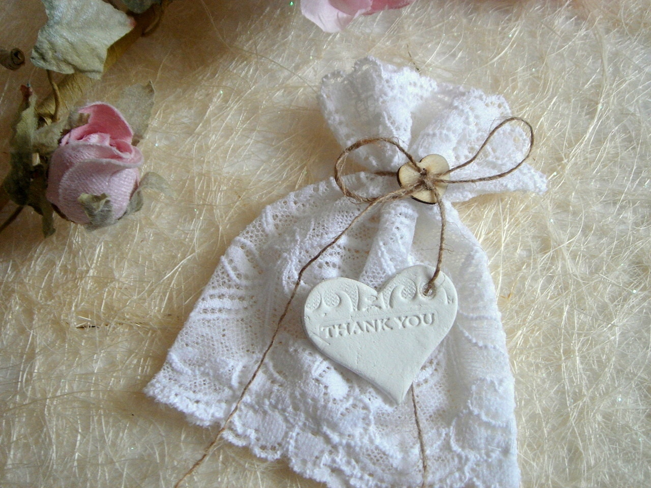 Wedding Favor Bags Lace : Request a custom order and have something made just for you.