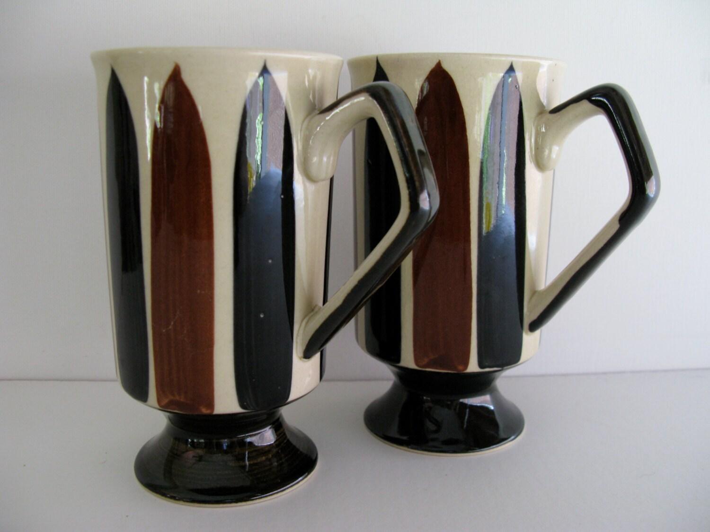 Coffee Mugs Modern Design Coffee Or Tea Mugs Two Toned