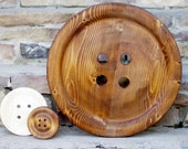Enormous 17 Inch Wooden Button - Giant Wood Button - Huge Button - Big Button - Guest Book - Rustic Wedding Decoration