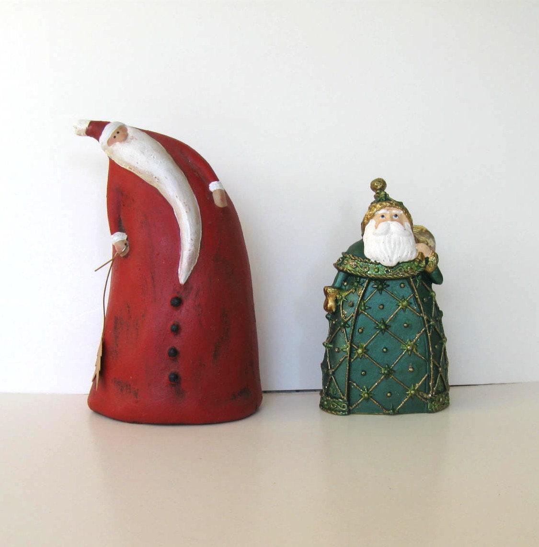 Vintage santa claus figurines ceramic home by