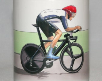 Cycling Mug. Bradley Wiggins, Individual Time Trial, London 2012 Olympics