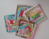 Handmade Crazyy Quilted Coasters