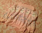 Light Pink and Pastel Cat Sweatshirt // Medium