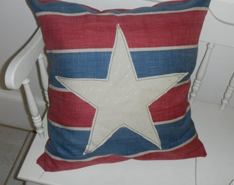 patriotic pillow cover 18""