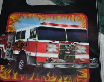 8 Fire Engine Party Favor Bags/Favor Bags/Bags/Party Bags/Firefighter Party Favor Bag/Firefighter Loot Bags